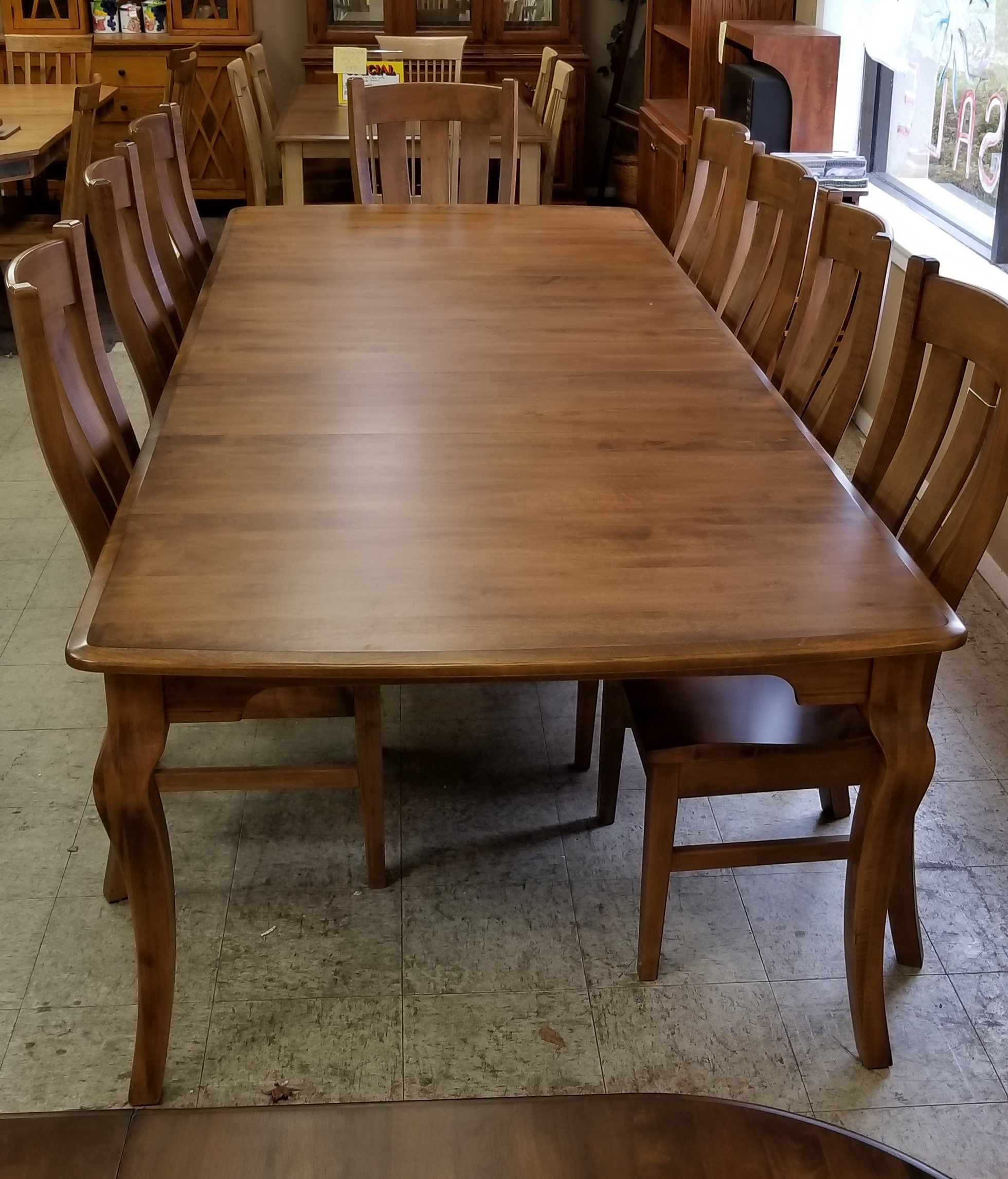 American Made Real Wood 120 Quot Bow End Granby Table With 8