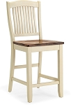 Beaver Creek Slat Back Stool in Rustic Buttermilk