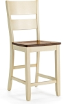 Beaver Creek Ladder Back Stool in Rustic Buttermilk