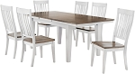 Beach House Leg Table And 4 Slat Back Chairs
