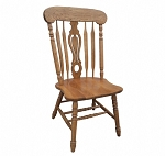 Solid Oak Key Hole Chair
