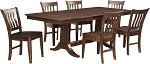 JR Dining - Trestle Table Set with 4 Slat Back Chairs