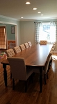 12' Solid Maple Table and 10 Chairs