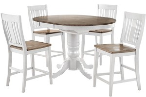 Beach House Counter High Round Pedestal Table
