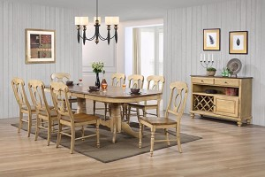 7 Piece Brook Collection Double Pedestal Set