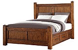 Smokey Mountain Lodge - Queen Bed with 6 Drawers