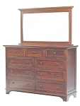 American Made -  Real Wood                 Arlington 9 Drawer Dresser