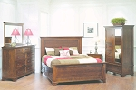 American Amish Made - Real Wood      Arlington 4 Piece Bedroom Set Rustic Cherry