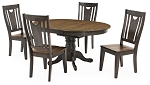 Beach House Round Pedestal Table And 4 Moon Back Chairs