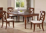 5 Piece Andrews Butterfly Leaf Table Set in Chestnut