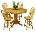 5 Piece Butterfly Pub Table Set