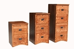 Mission All Wood File Cabinets - 2 Drawer Legal File