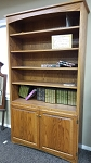 Solid Oak Door Bookcase