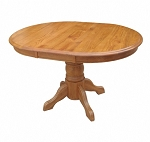 Solid Oak Round to Oval Table - And 4 Chairs