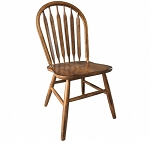 Solid Oak Arrow Back Chair