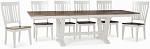 Beach House Trestle Table With 6 Slat Back Chairs